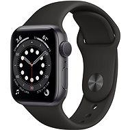 Apple Watch Series 6 44mm Aluminiumgehäuse Space Grau mit Sportarmband schwarz - Smartwatch