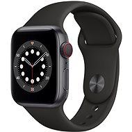 Apple Watch Series 6 - 44 mm Cellular Space Grey Aluminium mit schwarzem Sportarmband - Smartwatch