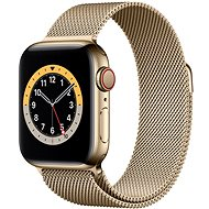 Apple Watch Nike Series 6 - 44 mm Cellular Gold Edelstahl mit Milanaise Armband in Gold - Smartwatch