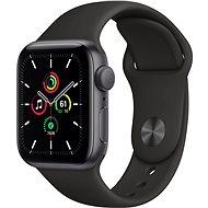 Apple Watch SE 40mm Aluminiumgehäuse Space Schwarz mit Sportarmband schwarz - Smartwatch