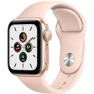 Apple Watch SE 44mm goldfarbenes Alugehäuse mit Sportarmband in Sandrosa - Smartwatch
