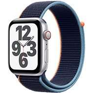 Apple Watch SE 44mm Cellular Silber Aluminium mit marineblauem Sportarmband - Smartwatch