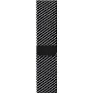 Apple 42mm/44mm Milanaise Armband Space Schwarz - Uhrband