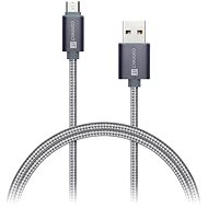 Datenkabel CONNECT IT Wirez Premium Micro-USB Metallic silbergrau 1m - Datenkabel