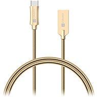 CONNECT IT Wirez Steel Knight USB-C 1m, Metallic-Gold - Datenkabel
