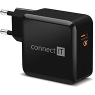 CONNECT IT InWallz QUALCOMM QUICK CHARGE 3.0 Schwarz - Ladegerät