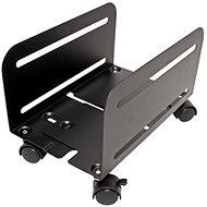 OEM-PC-Halter, Breite 119 - 209 mm, Metall, Räder, schwarz - PC-Halter