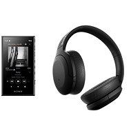 Sony MP4 16 GB NW-A105L schwarz + Sony Hi-Res WH-H910N schwarz - Set