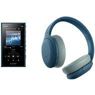 Sony MP4 16 GB NW-A105L blau + Sony Hi-Res WH-H910N blau - Set