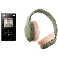 Sony MP4 16 GB NW-A105L grün + Sony Hi-Res WH-H910N grün-körperfarben - Set
