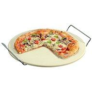 Kesper Pizzastein mit 2 Griffen, Durchmesser 33 cm - Schneidebrett