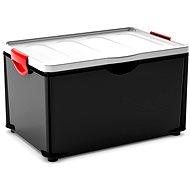 Aufbewahrungsbox KIS Clipper Box XL mit Deckel schwarz-grau 60l