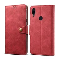 Lenuo Leather für Xiaomi Redmi Note 7, rot - Handyhülle