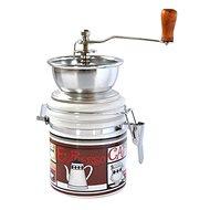 Toro Kaffeemühle, Porzellan, Edelstahl, Espresso-Motiv - Kaffeemühle