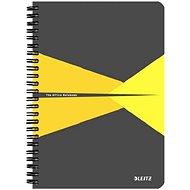 LEITZ Office A5 90 Blatt - grau / gelb - Notizblock