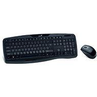 Genius KB-8000X CZ+SK Schwarz - Tastatur/Maus-Set
