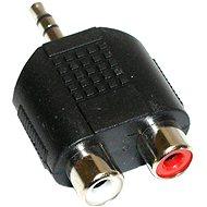 OEM Audio 3.5mm JACK --> 2x cinch - Adapter