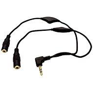 ROLINE Buchse 3.5M -> 2x 3.5F Buchse, Lautstärkeregler, mit Kabel 30 cm - Adapter