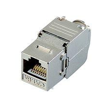 Datacom Keystone RJ45 STP CAT6A selbstbohrend SILBER - Konnektor