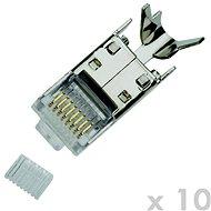 Datenkommunikationsstecker STP CAT7 (6A) 8p8c-RJ45-Kabel (10 Stück) - Konnektor