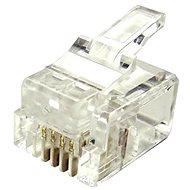 Datacom Modularstecker RJ11, CAT3, UTP, 6p4c, ungeschirmt, Litzenkabel - 10 Stück - Konnektor