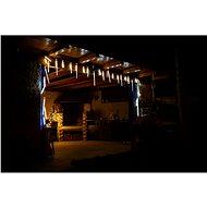 Marimex Eiszapfen 10 Stück unterschiedlicher Größe, fließender Effekt - Weihnachtsbeleuchtung