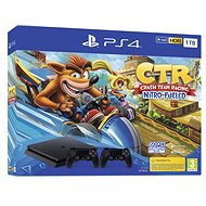 PlayStation 4 Slim 1 TB + Crash Team Racing + 2x Controller - Spielkonsole