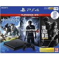PlayStation 4 Slim 1 TB + 3-Spiele (The Last Of Us, Uncharted 4, Horizon Zero Dawn) - Spielkonsole