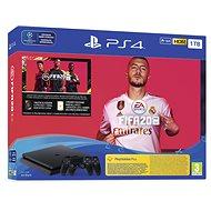 PlayStation 4 Slim 1 TB + FIFA 20 + 2x DS4-Controller - Spielkonsole