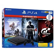 PlayStation 4 Slim 1 TB + 3-Spiele (GT Sport, Uncharted 4, Horizon Zero Dawn) - Spielkonsole