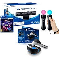 PlayStation VR für PS4 + VR Worlds Spiel + PS4 Kamera + PS MOVE Twin Pack - VR-Brille