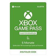 Xbox Game Pass - 6 Monate Abonnement - Prepaid-Karte