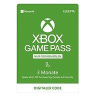 Xbox Game Pass - 3 Monate Abonnement - Prepaid-Karte