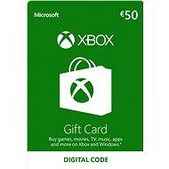 Xbox Live Geschenkkarte im Wert von 50 Eur - Prepaid-Karte