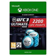UFC 3: 2200 UFC Points - Xbox One Digital - Herní doplněk