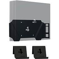 4mount - Wandhalterung für PlayStation 4 Pro Black + 2x Controller-Wandhalterungen - Wandhalterung