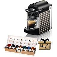 NESPRESSO Krups Pixie XN304T10, Titan - Kapsel-Kaffeemaschine