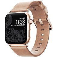 Nomad Leather Strap Modern Natural Gold Apple Watch 40/38mm - Uhrband