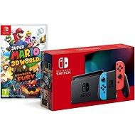 Nintendo Switch - Neon Red&Blue Joy-Con + Super Mario 3D World - Spielkonsole