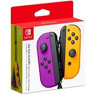 Nintendo Switch Joy-Con Controller Neon Purple / Neon Orange - Gamepad