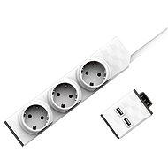 Allocacoc PowerStrip Modular Switch Set 1,5 m + USB-Modul - Zubehör