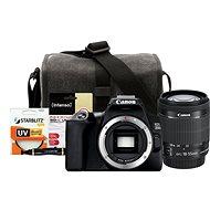 Canon EOS 250D schwarz + EF-S 18-55 mm f/4-5.6 IS STM + Canon Starter Kit 58 mm - 32 GB - Digitalkamera
