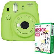 Fujifilm Instax Mini 9 Lime + 10x Fotopapier - Sofortbildkamera