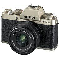 Fujifilm X-T100 Gold + XC 15-45 mm 1: 3,5-5,6 OIS PZ - Digitalkamera