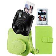 Fujifilm Instax Mini 11 schwarz + Limetten-Zubehörset + 10x Fotopapier - Sofortbildkamera