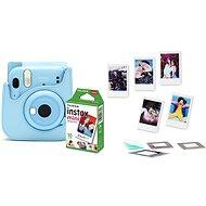 Fujifilm Instax Mini 11 blau + Etui + 10x Fotopapier + Zubehörset - Sofortbildkamera
