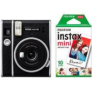 Fujifilm Instax Mini 40 + 10x Fotopapier - Sofortbildkamera