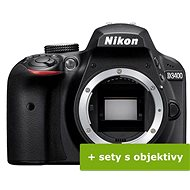 Nikon D3400 schwarz + 18-55mm VR + 70-300VR + Tasche + 16GB Karte - Digitalkamera