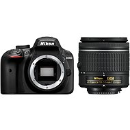 Nikon D3400 schwarz + 18-55mm AF-P - Digitale Spiegelreflexkamera