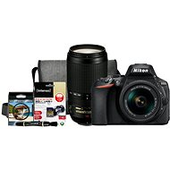 Nikon D5600 + AF-P 18-55mm VR + 70-300mm VR + Nikon Starter Kit - Digitalkamera